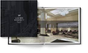 coffee table book design loews regency hotel new york