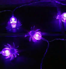 halloween purple led string lights novelty 20 purple led spider 86 string lights battery operated