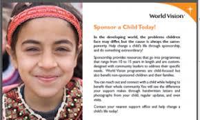 sponsor a child today world vision international