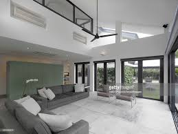 double height living room in modern house swiss club road