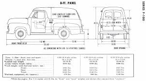 ford truck panels restore your ford 1953 1956 ford truck dimensions and specifications