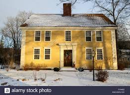 Colonial Style Home A Colonial Style Home In Old Deerfield Massachusetts Stock Photo