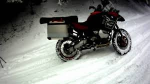 Adventure Motorcycle Tires Bmw R1200gs Adventure With Studded Tires In Snow At Evans Creek