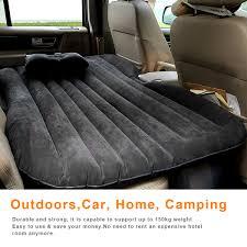 ancheer car air bed outdoor travel air mattress rest pillow