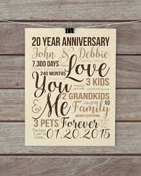20 years anniversary gifts the 25 best 20th anniversary gifts ideas on 20th