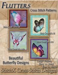 flutters cross stitch patterns beautiful butterfly designs tracy