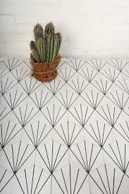 du carrelage graphique dandelions black and cacti