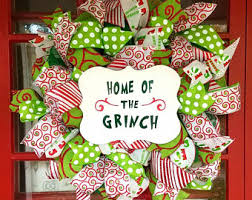 Grinch Christmas Decorations Sale Grinch Decor Etsy
