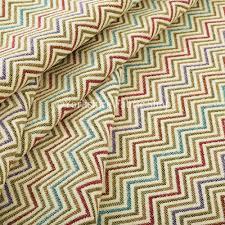 Chenille Upholstery Fabric Uk Multi Coloured Chevron Striped Soft Chenille Upholstery Fabric Jo 229