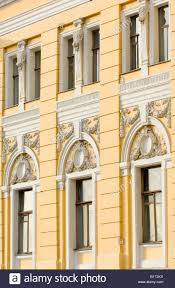 detail of neoclassical architecture in theatre square moscow