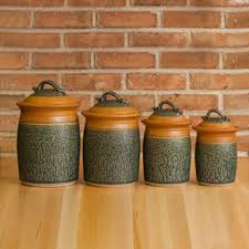 Kitchen Canisters Ceramic Sets Kitchen Beautiful Mason Jar Kitchen Decor Set With Blue Ceramic