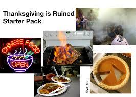 thanksgiving is starter pack starterpacks