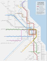 Map Chicago Suburbs by Transit Maps