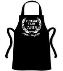 gifts for 60 year olds wreath 1958 60th birthday apron 60 year gift present bbq