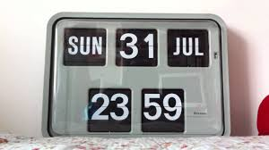 ivation clock grayson wall flip clock time day u0026 date flip youtube