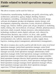 Hotel Resume Sample by Top 8 Hotel Operations Manager Resume Samples