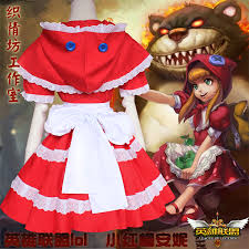 league legends lol annie red riding hood cosplay costume