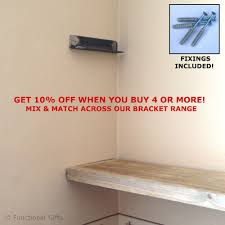 Metal Storage Shelves Pair Metal Wall Alcove Brackets For Rustic Scaffold Board Storage