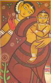 jamini roy mother and child tempera on canvas cm national gallery of modern art new delhi