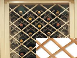 wine rack lattice insert home decorating inspiration