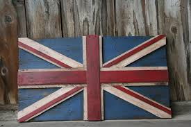 Flag Og England British Flag Reclaimed Repurposed Pallet Crate Wood Union