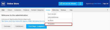 change the 1 u00261 online store design template 1 u00261 help center