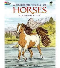 wonderful world of horses coloring book joann
