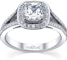 cushion cut split shank engagement rings vatche split shank engagement ring 1015