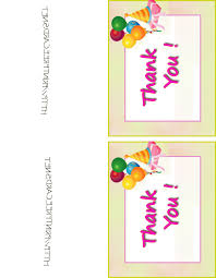 free printable thank you cards for baby u0027s 1st birthday party 3