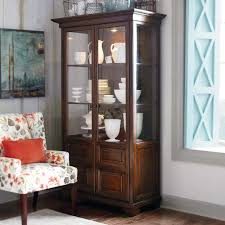 furniture antique curio cabinets with shelves and glass door for