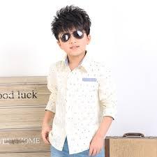 2017 new boys spring long sleeve shirts dot print children casual