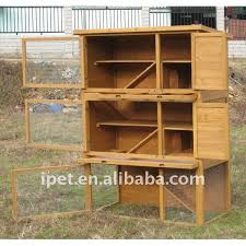 Rabbit Hutch Plastic Cheap Large 3 Story 4ft Outdoor Wooden Hamster Cage With Plastic