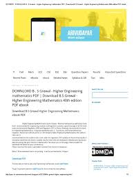 download engineering mathematics pdf download printable u0026 free