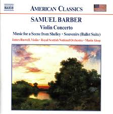 barber violin concerto serenade for strings souvenirs