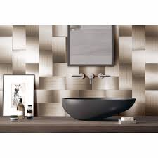 compare prices on modern backsplashes online shopping buy low 32 pieces peel and stick backsplash 3in x 6in brushed copper long grain metal tile for