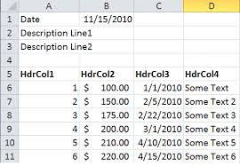 dynamically find where table data starts in excel using ssis