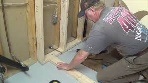 diy basement bathroom part 1 shower stall frame u0026 drain youtube