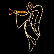 Outdoor Lighted Christmas Angels by Holiday Christmas Sparkling Lighted Open Arms Angel Yard Holiday