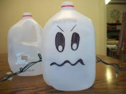 recycled craft glowing ghosts from plastic milk jugs woo jr