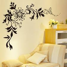 buy decals design floral wall sticker pvc vinyl 70 cm x 50 cm buy decals design floral wall sticker pvc vinyl 70 cm x 50 cm black online at low prices in india amazon in