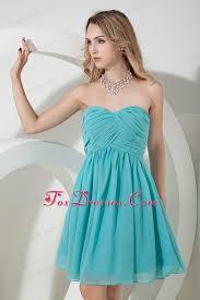 where to buy graduation dresses strapless aqua a line chiffon prom graduation dress knee length
