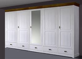 Schlafzimmer Ohne Kleiderschrank Landhaus Schlafzimmer Kleiderschrank Mit Spiegel 5 Türig Weiß