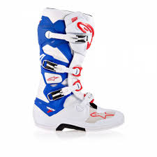 white motocross boots alpinestars tech 7 motocross stiefel white blue red 2016 mxweiss