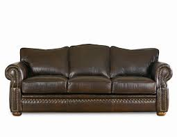 furniture omnia leather sleeper sofas with brown color and