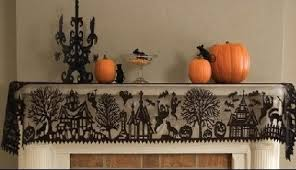 lace mantle scarf 84 haunted mansion witch ghost pumpkin