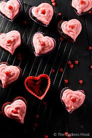 valentines chocolate day cupcakes with chocolate cinnamon hearts
