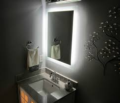 hotel style sell furniture bathroom mirror with back lights