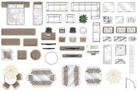 beautiful d furniture floorplan top down view psd d model about