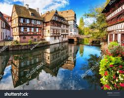 traditional halftimbered houses la petite france stock photo