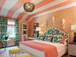 bedroom color scheme with turquoise red painted wall room paint
